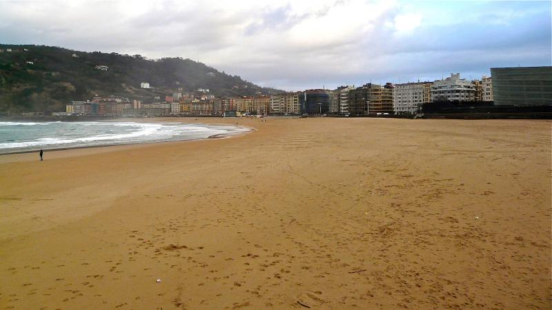 Playa de la Zurriola in San Sebastian